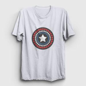 Star Shield Tişört beyaz