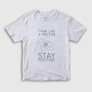Stay Positive Çocuk Tişört beyaz