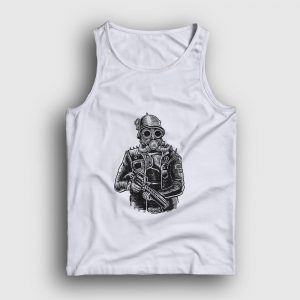 Steampunk Soldier Atlet beyaz