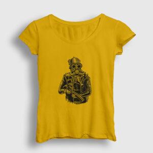 Steampunk Soldier Kadın Tişört sarı