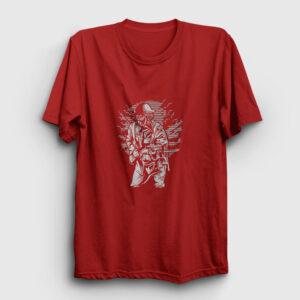 Steampunk Style Soldier Tişört kırmızı