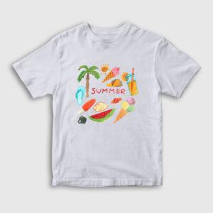 Summer Çocuk Tişört beyaz