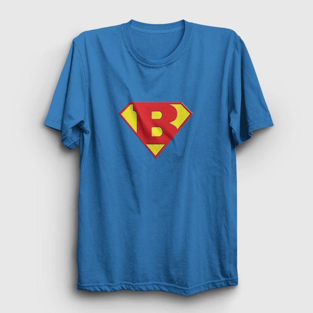süper barmen tişört açık mavi