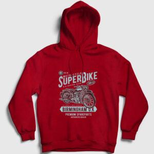Super Bike Kapşonlu Sweatshirt kırmızı