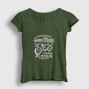 Super Motor Kadın Tişört haki