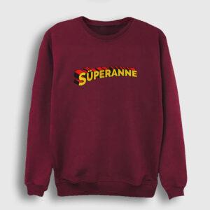 Süperanne Sweatshirt bordo