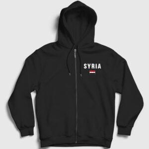 Suriye Fermuarlı Kapşonlu Sweatshirt siyah