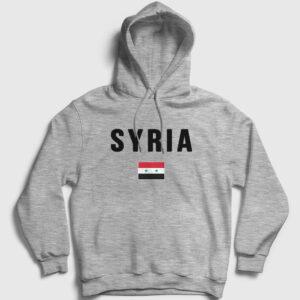 Suriye Kapşonlu Sweatshirt gri kırçıllı