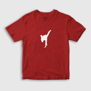 Taekwondo Çocuk Tişört kırmızı