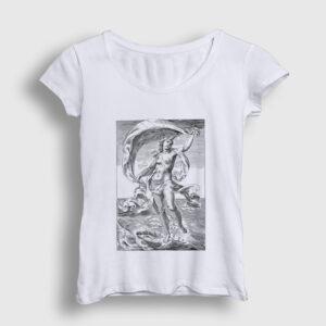 Tanrıça Afrodit Kadın Tişört beyaz