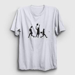 tenis tişört beyaz