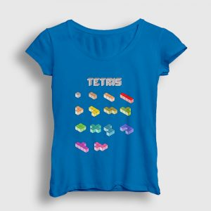 Tetris Kadın Tişört açık mavi