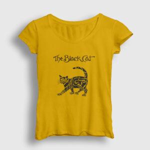 The Black Cat Kadın Tişört sarı