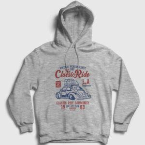 The Classic Ride Kapşonlu Sweatshirt gri kırçıllı