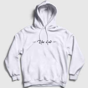 The End Kapşonlu Sweatshirt beyaz