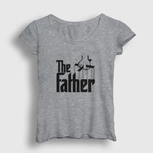 The Father Kadın Tişört gri kırçıllı