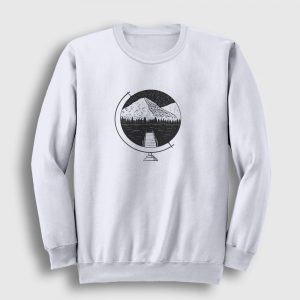 The Globe Sweatshirt beyaz