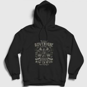 The Great Adventure Kapşonlu Sweatshirt siyah