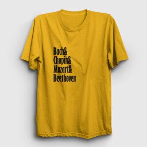 The Great Composers Tişört sarı