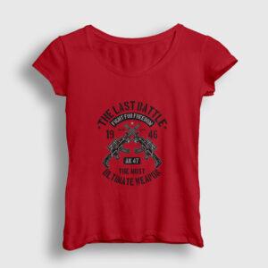 The Last Battle Kadın Tişört kırmızı