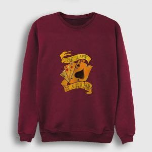 The Life is a Game Sweatshirt bordo