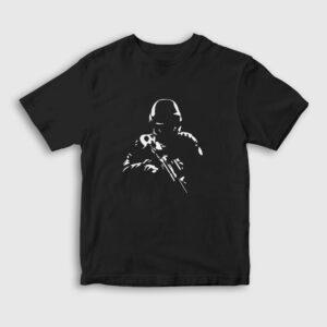 The Soldier Çocuk Tişört siyah