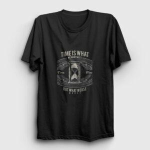 Time Is Tişört siyah