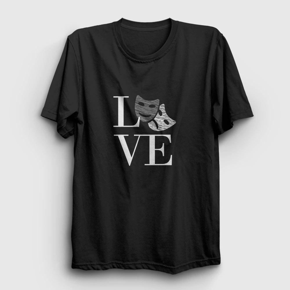 tiyatro tişört - tiyatro aşkı siyah