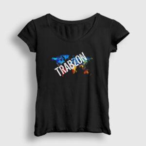 Trabzon Kadın Tişört siyah