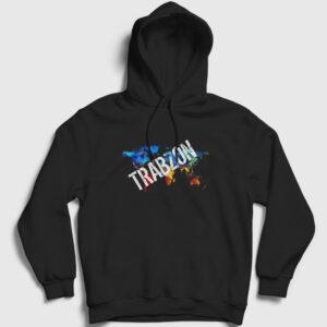 Trabzon Kapşonlu Sweatshirt siyah