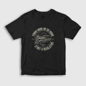 Train Hard Or Go Home Tren Çocuk Tişört siyah