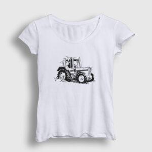 Traktör Kadın Tişört beyaz