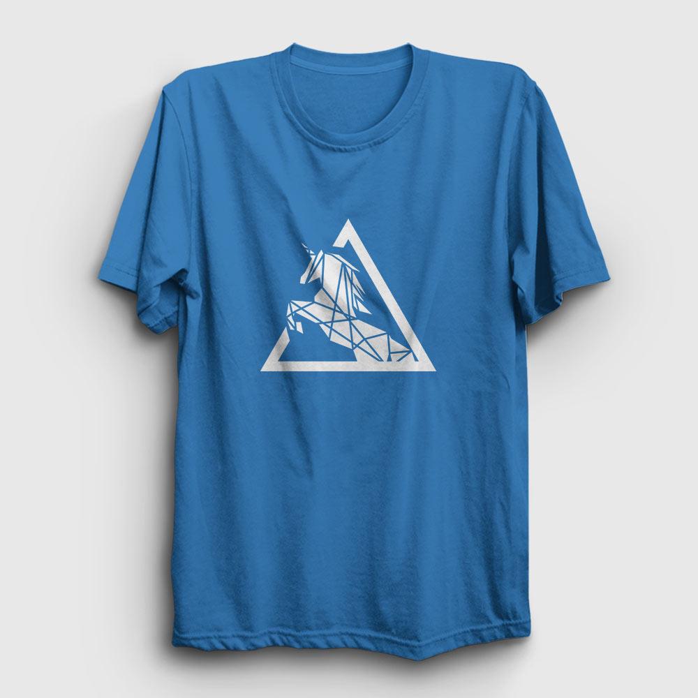 Triangle Horse Tişört açık mavi