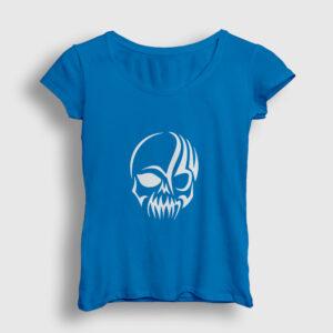 Tribal Kurukafa Kadın Tişört açık mavi