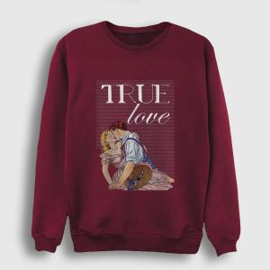 True Love Sweatshirt bordo
