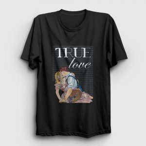 True Love Tişört siyah