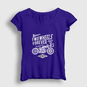 Two Wheels Forever Motor Kadın Tişört lacivert