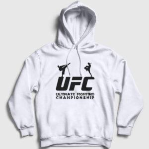 UFC Kapşonlu Sweatshirt beyaz