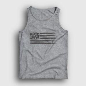 USA Flag Atlet gri kırçıllı