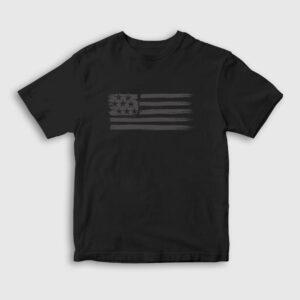 USA Flag Çocuk Tişört siyah