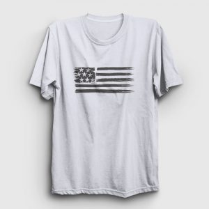 USA Flag Tişört beyaz