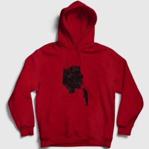Uzay Kapşonlu Sweatshirt – Uzayı Boyamak kırmızı
