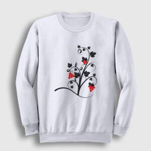 Üzüm Asması Sweatshirt beyaz