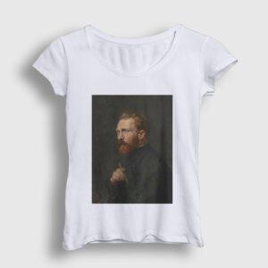 Van Gogh Kadın Tişört beyaz