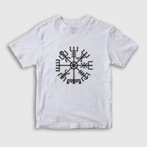 Vegvisir Pagan Çocuk Tişört beyaz