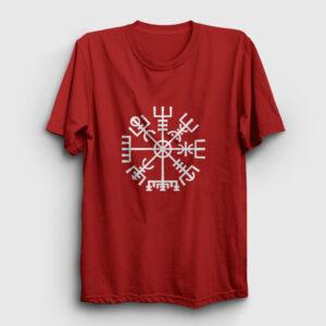 Vegvisir Pagan Tişört kırmızı