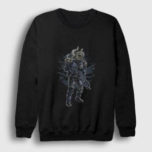 Viking Asker Sweatshirt siyah