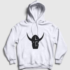 Viking Fighter Kapşonlu Sweatshirt beyaz