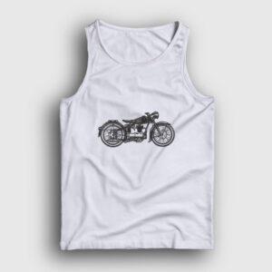 Vintage Motor Atlet beyaz