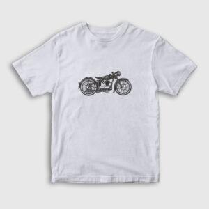 Vintage Motor Çocuk Tişört beyaz